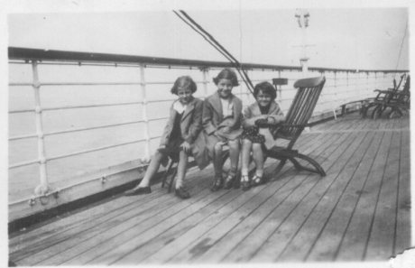 Oceanbound to a Family Reunion in 1937 (illustration from A Book of Kells)