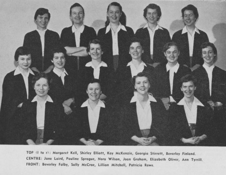 Annesley Student Executive, Victoria College, UofT 1955