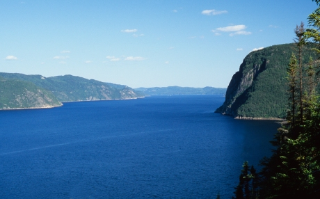 The beautiful Saguenay Fjord on the north shore of the St. Lawrence River, Canada