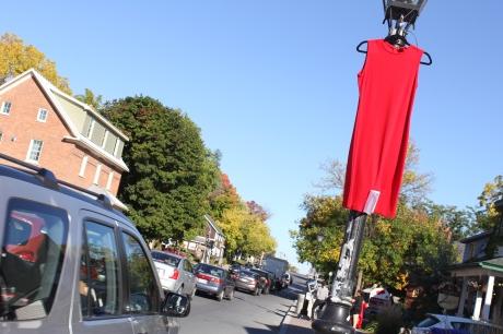 Murder Reminders on Main Street. Aylmer Bulletin Photo.