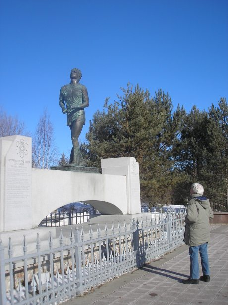 Stop to talk to Terry Fox in Thunder Bay as you head west towards the US on the Trans Canada Highway. A relapse stopped his cross-continent run on his artificial leg to raise money for cancer.
